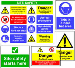 Construction & Site Safety Signage