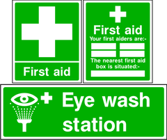 First Aid Signs.