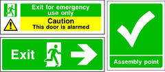 Emergency & Fire Escape Signage