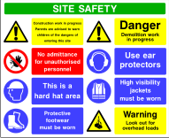 Site Safety Board Style A