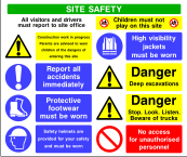 Site Safety Board Style B