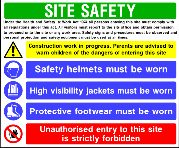 Site Safety Board Style C