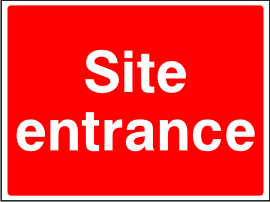 Site Entrance Sign.