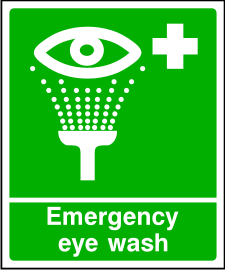 Emergancy Eye Wash Sign.