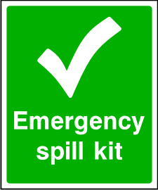 Emergency Spill Kit Sign.