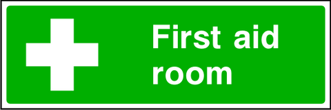 First Aid Room Sign.