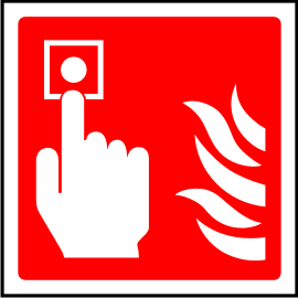 Fire alarm point sign.