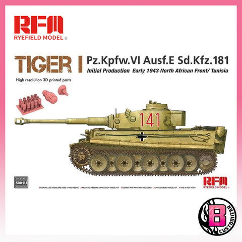 Ryefield Model 1/35 scale Tiger I Initial Production (5001U)