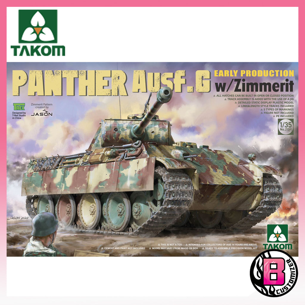 Takom 1/35 Panther Ausf.G early production w/zimmerit (No. 2134)