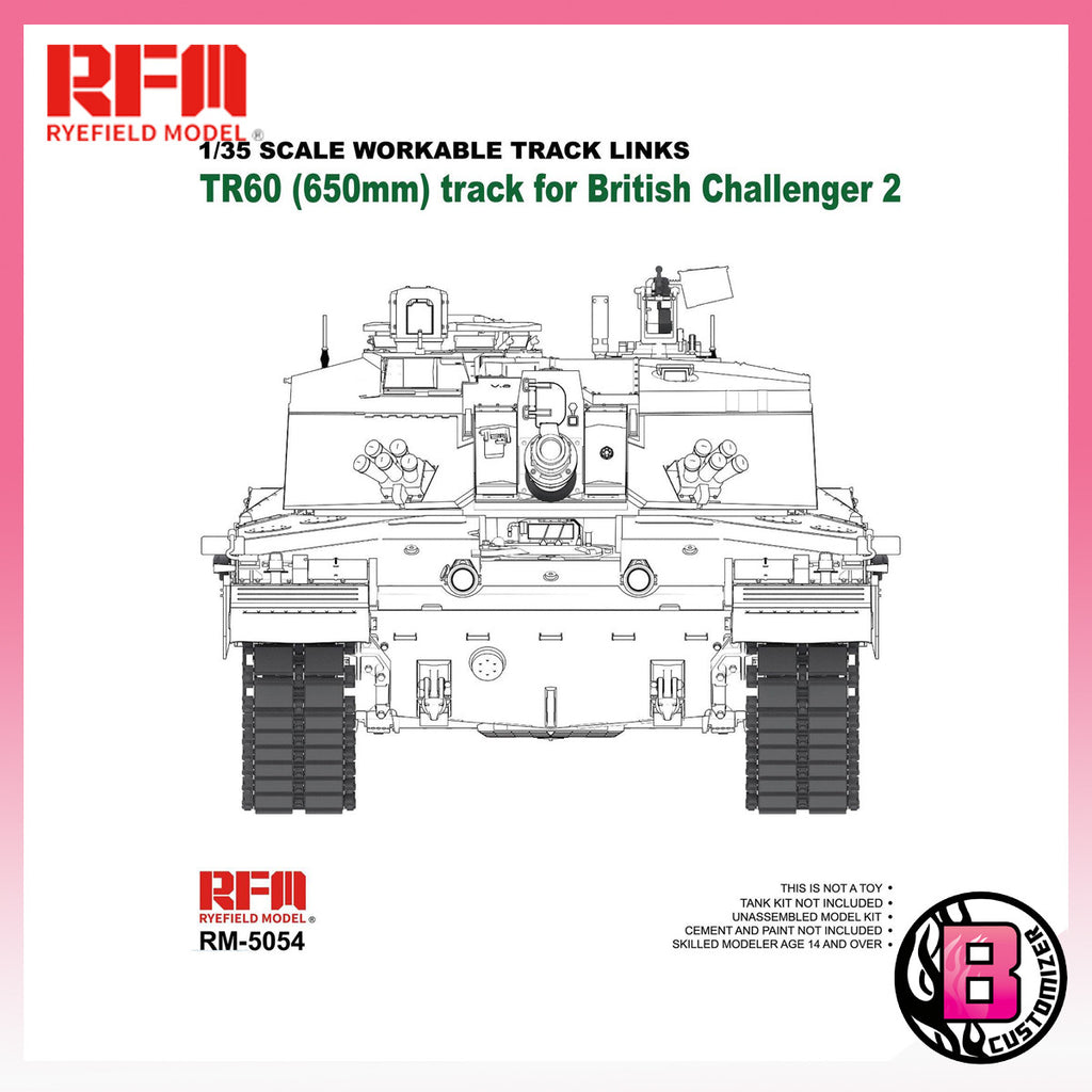 Ryefield Model (RM-5054) 1/35 workable track links for British Challenger 2