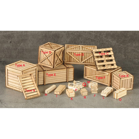 1/35 scale wood boxes for diorama