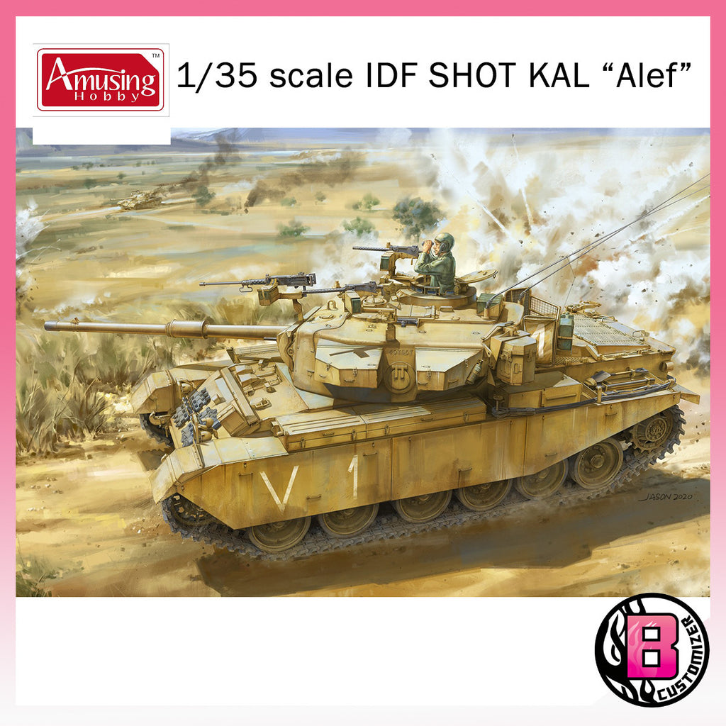 "Amusing Hobby 1/35 IDF SHOT KAL ""Alef"" Valley of tears 1973 (35A048)"