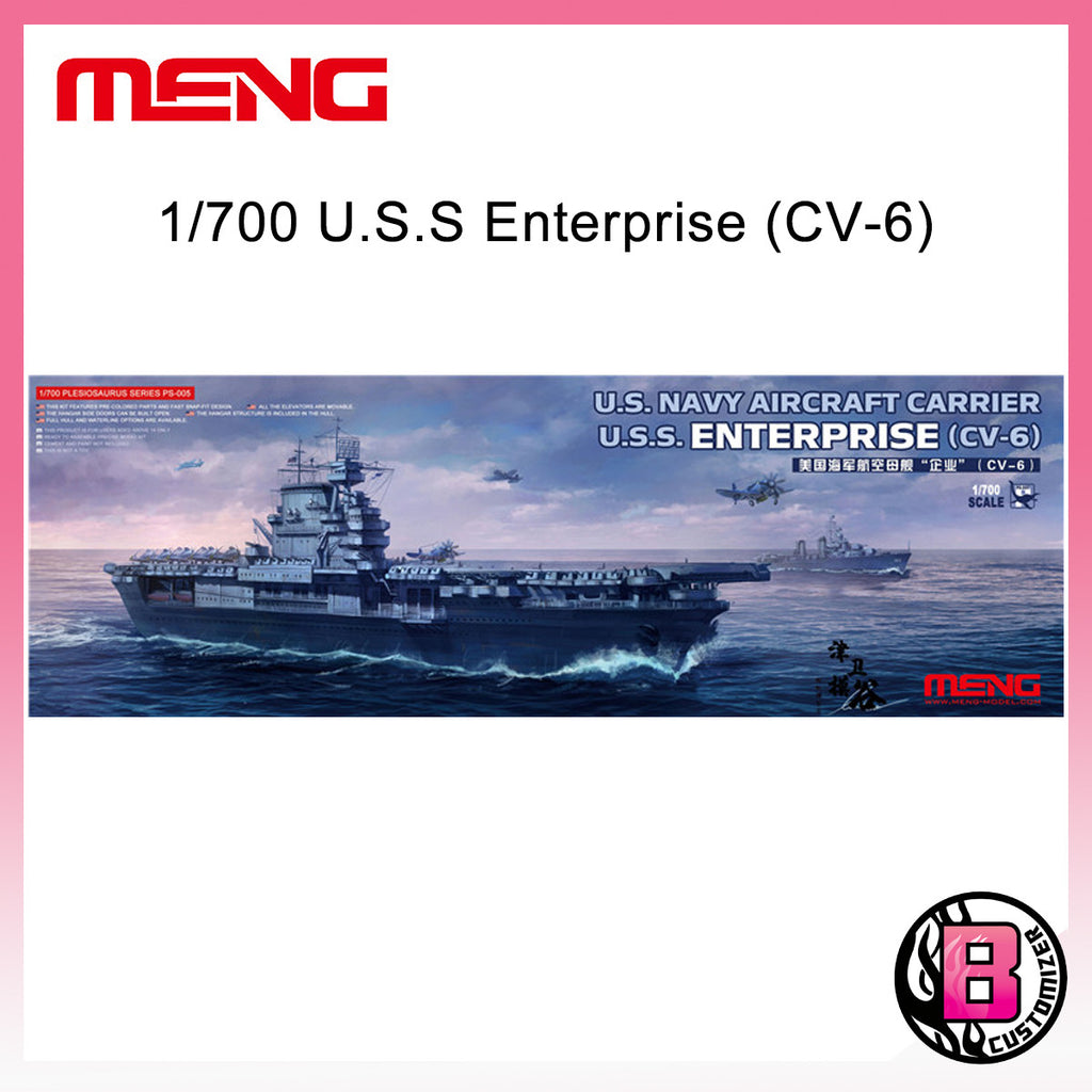 MENG 1/700 US Navy Aircraft Carrier USS Enterprise (CV-6)