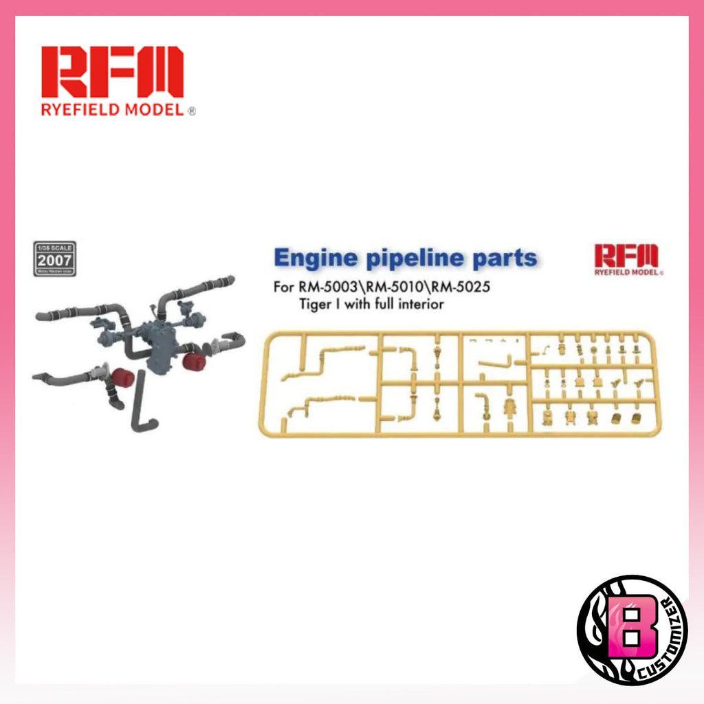 Ryefield Model Engine pipeline parts for Tiger I