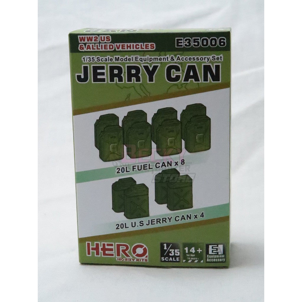 E35006 Hero 1/35 Jerry Can of WW2 & Allied vehicles