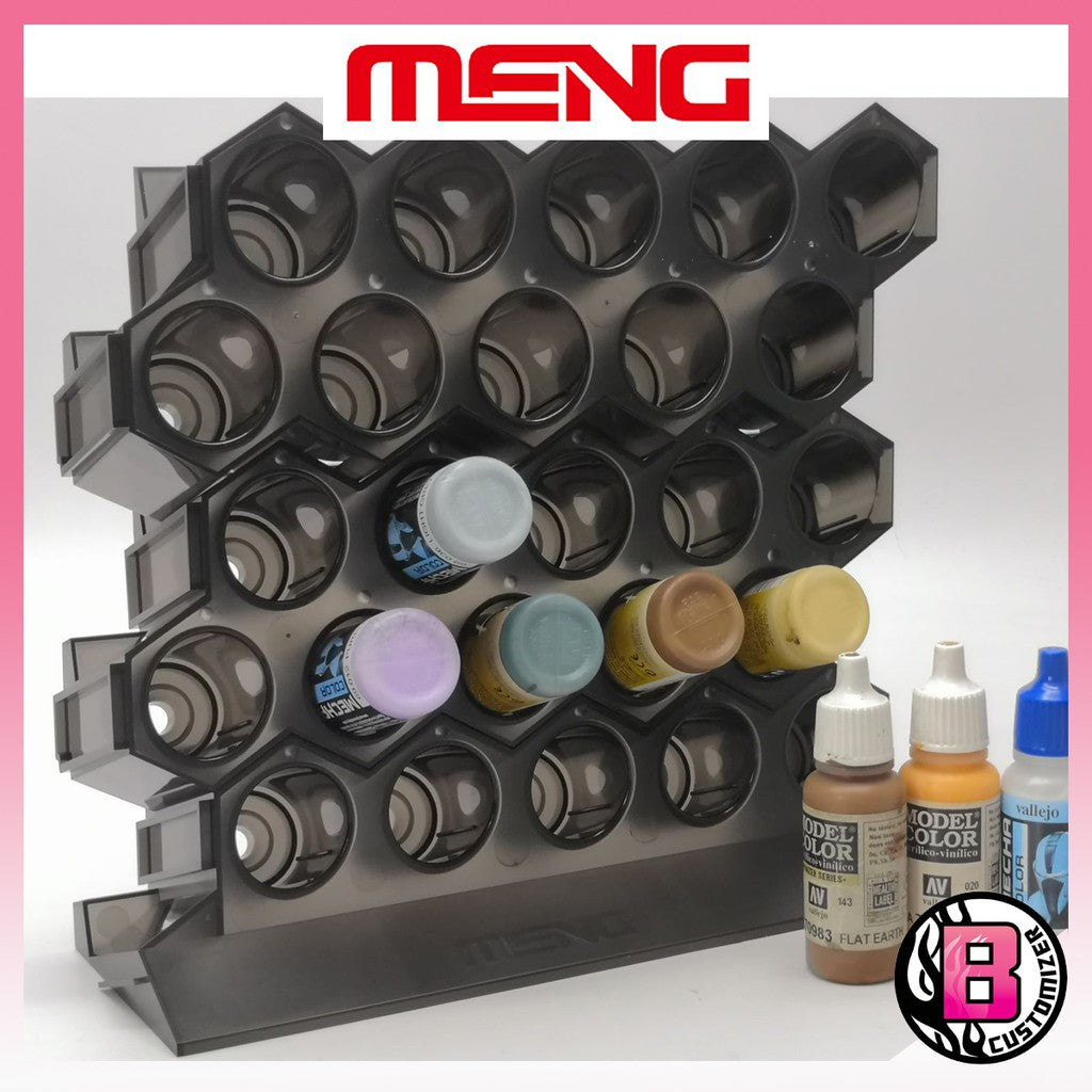 Meng model MTS-043 modular acrylic paint rack (Base set and expansion)