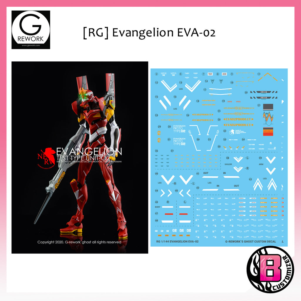 G-Rework [RG] Evangelion Unit-02 custom decal