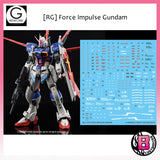 G-REWORK [RG] Force Impulse Gundam custom decal