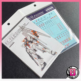 G-Rework RG 1/144 Nu Gundam custom design water decal