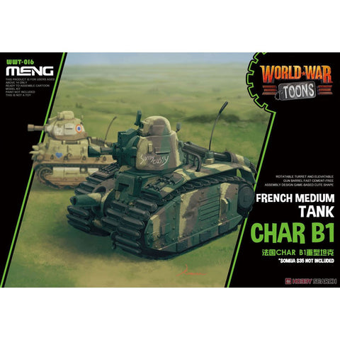 Meng WWT-016 French Heavy Tank Char B1