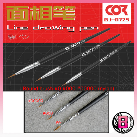 Cormake Pointed head brush (nylon)