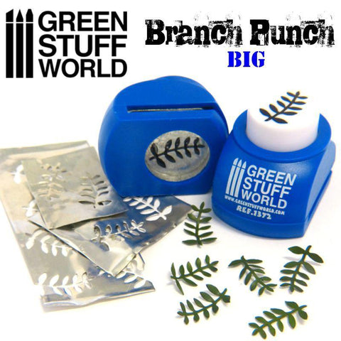Green Stuff World Miniature leaf punch (blue)