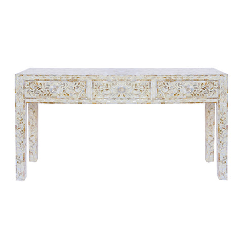 White Mop Console Table. - Prime Inlay Furnitures - 1