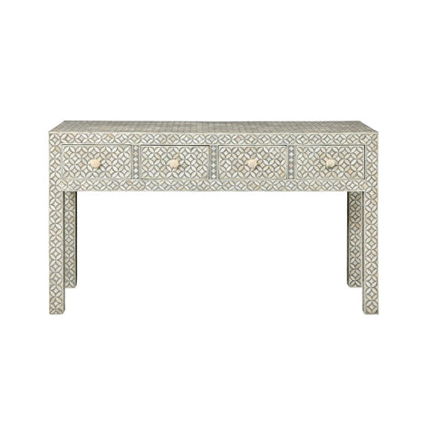 Gray Bone Inlay Console Table -