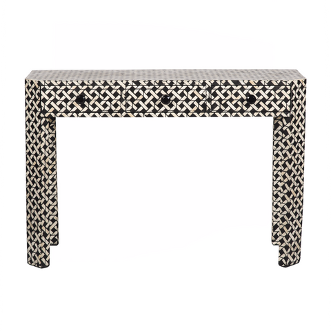 Bone Inlay Three Drawer Console - Prime Inlay Furnitures