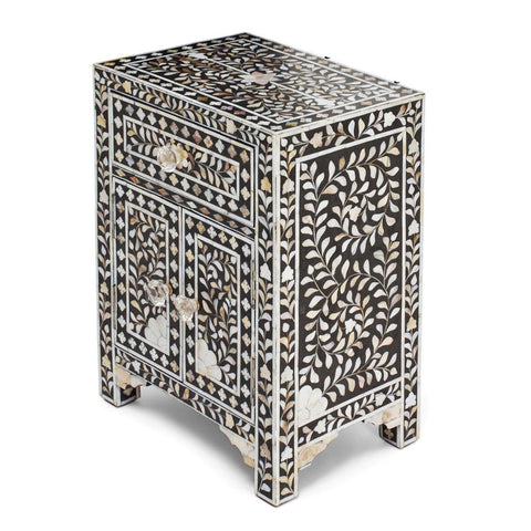 Mother Of Pearl Inlay BedSide -