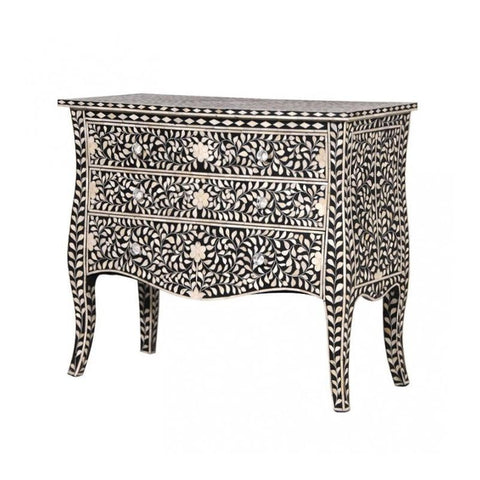 French Style Bone Inlay Chest - Prime Inlay Furnitures - 1