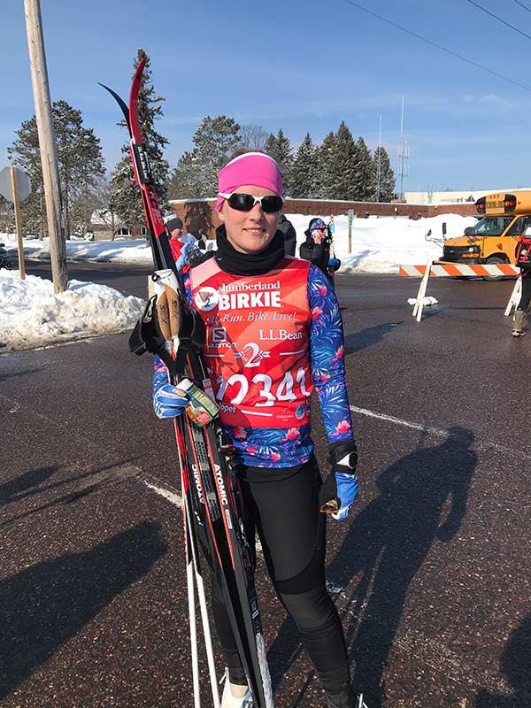 Becoming a Nordic Skiing Triathlete Lisa Ackerman Sapphire Summer Multi Sport Top UPF50 Long Sleeve Performance Wear Sun Protective Cute Fun Bright Safe Comfortable Best Female Athletic Apparel