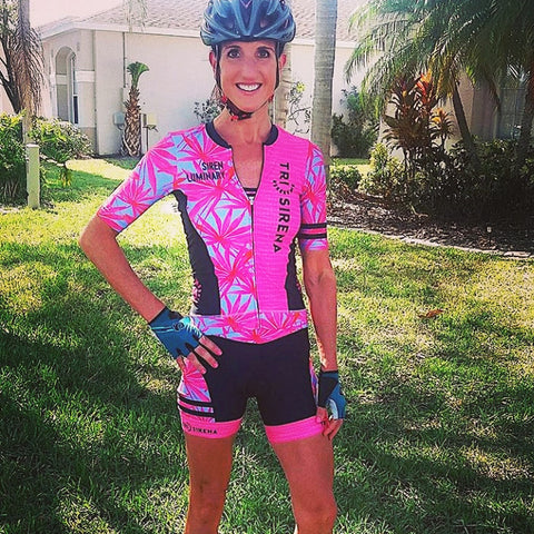 Rachel Chambers Siren Luminary wearing triathlon Team Kit