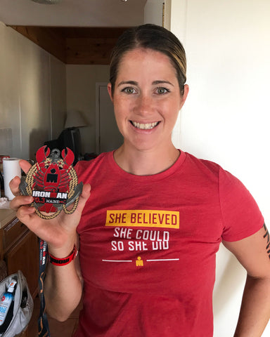 race-recap-girl-half-ironman-challenge-medal-lobster-maine
