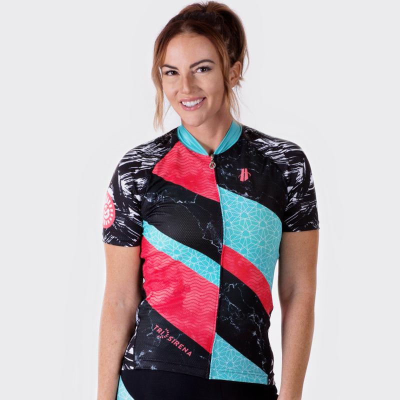 Cute Women's Cycle Jersey Sun Protective with Cooling Technology