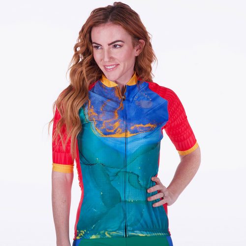 Cute Sexy Women's Cycle Jersey for Triathlon, Cycling, Racing, and More!