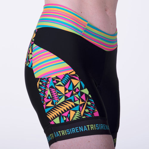 Women's UPF 50 High Visibility Triathlon, Cycle Shorts