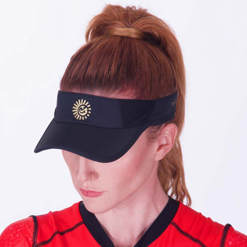 Women's Active Visor with Internal Sweatband for Running, Cycling, and Tennis Front