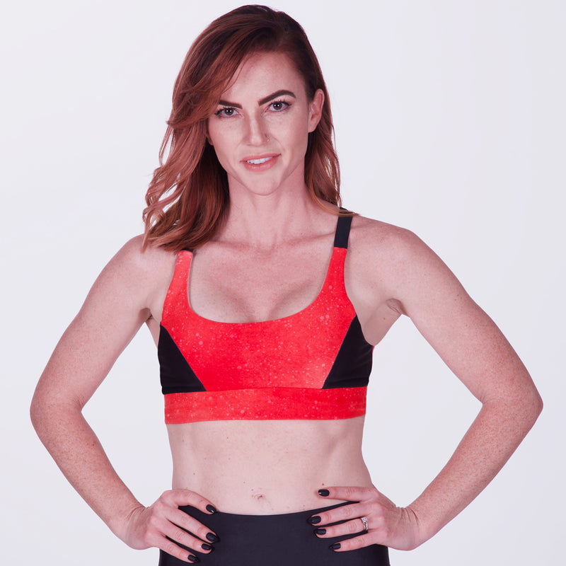 Sexy and Bright Women's UPF 50 Sports Bra for Running and Triathlon Training