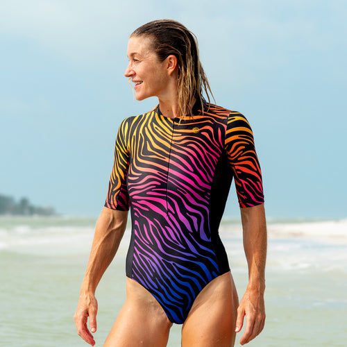 Sunset Safari UPF 50+ Short Sleeve Swimsuit