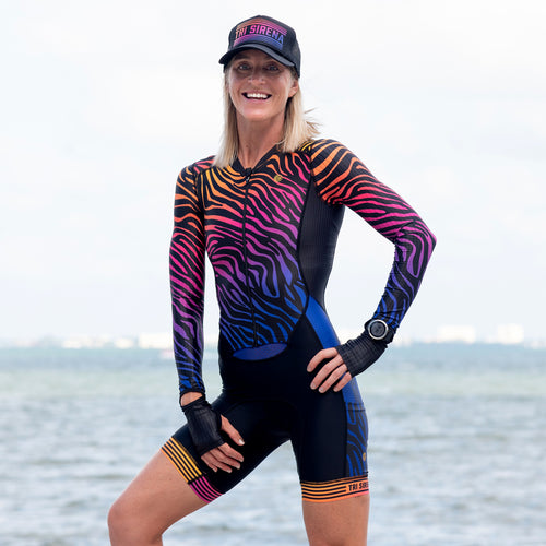 Sunset Safari UPF 50 Long Sleeve Aero Skinsuit