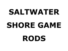 All Saltwater Shore Game Rods