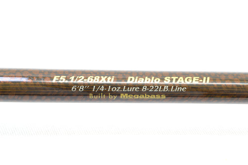 Used Megabass Destroyer Evoluzion F5.1/2-68Xti Diablo Stage II