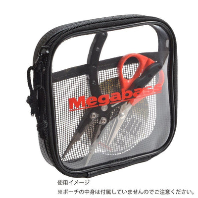 Megabass CLEAR POUCH 3 size variation fishing tackle storage