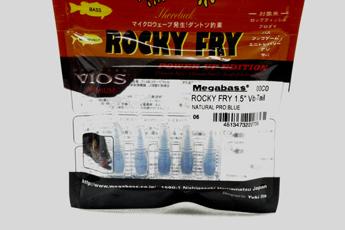 Megabass Rocky Fly 1.5 Vip-Tail #06 Natural Pro Blue