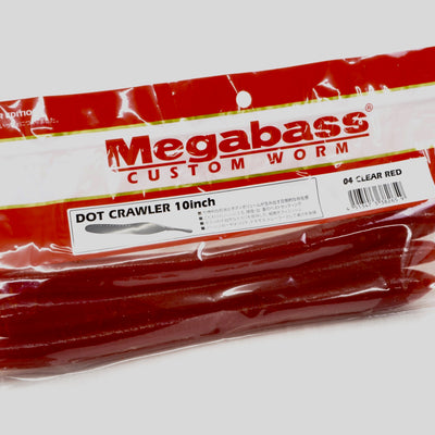 Megabass Dot Crawler 10inch #4 Clear Red  3 in a pack