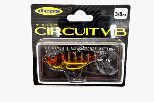 Free Shipping! deps Circuit Vib 47mm 3/8oz #02 Red Gill