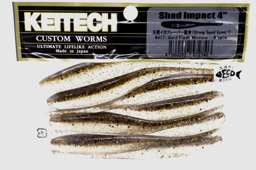 Keitech Shad Impact 4inch #417 Gold Flash Minnow
