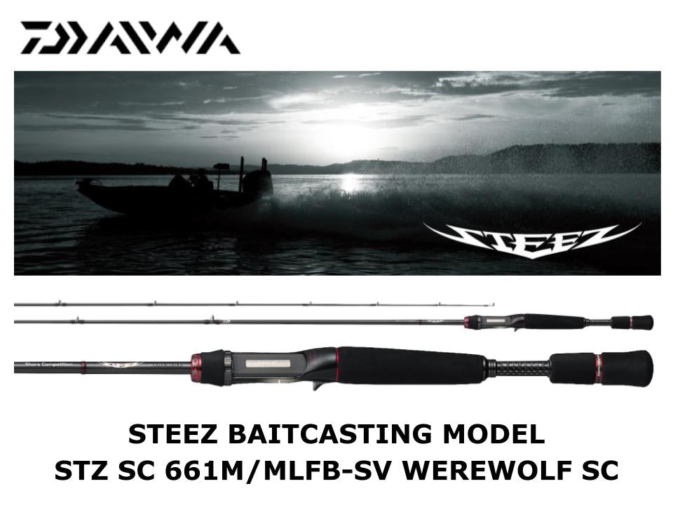Daiwa Steez Casting STZ SC 661M/MLFB-SV Werewolf Shore Competition Model