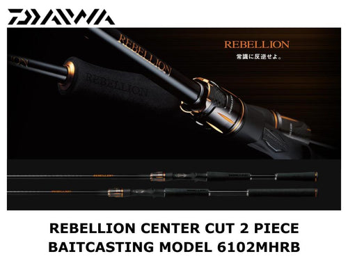 Daiwa Rebellion Center Cut 2 Piece Baitcasting Model 6102MHRB